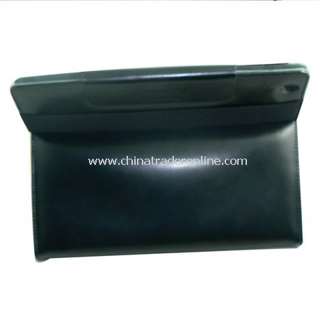 iPad 2 Generation Leather Book Jacket Case Cover With Stand BLACK