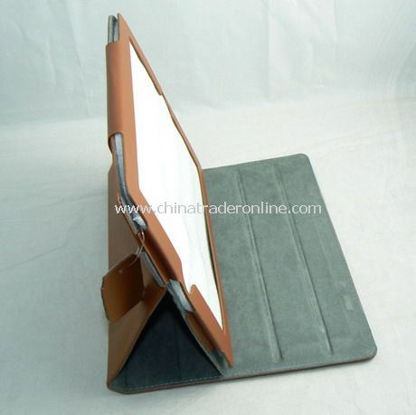 iPad 2 Generation Leather Book Jacket Case Cover With Stand BROWN