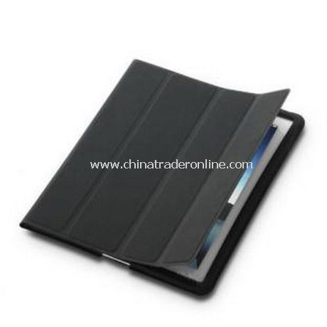 iPad 2 Smart Cover Case Black Leather(Black)