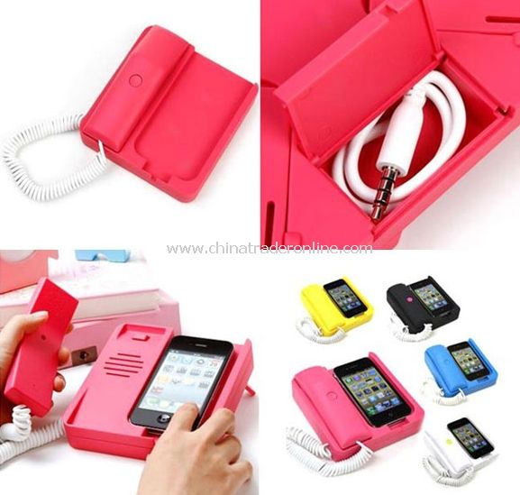 iphone 3GS phone holder retro telephone landline matte color random