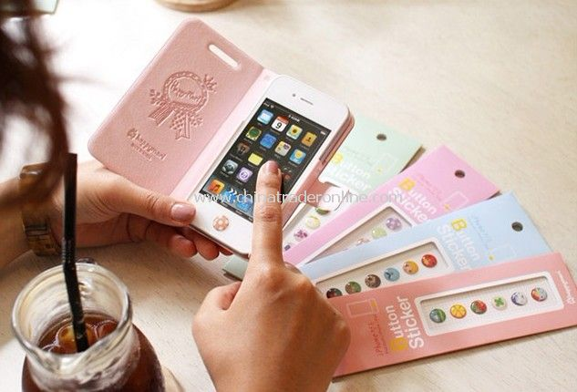 Iphone home button key sticker 6 pcs random color
