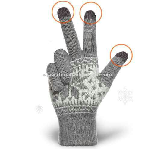 New Ladies Warm Wool Blends Touch Screen Gloves For iPhone iPod Smart Phones