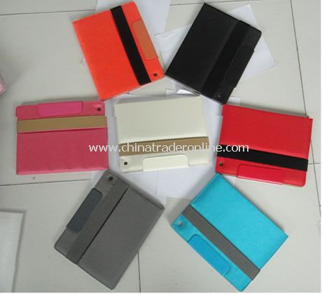 PU Leather Cover Case for iPad 2 BlACK