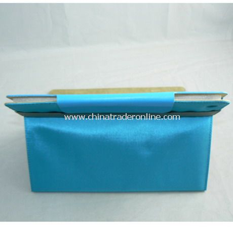 PU Leather Cover Case for iPad 2 BlUE