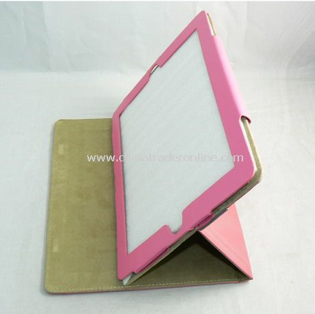 PU Leather Cover Case for iPad 2 PINK