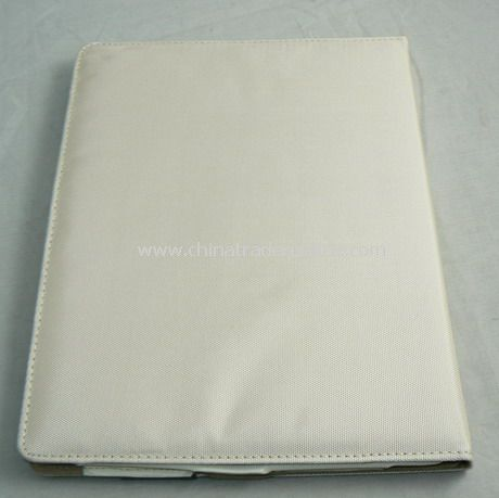 PU Leather Cover Case for iPad 2 WHITE