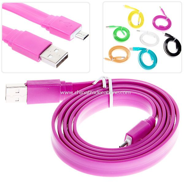 1m Noodle Style Micro USB Cable for HTC/Samsung/Blackberry etc