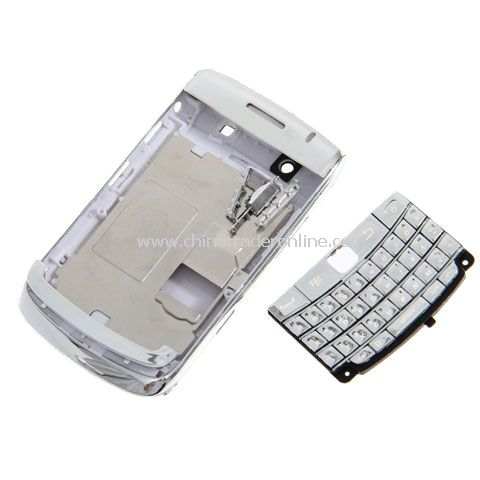 Full Case Plated High Quality Replacement Housing Case with Keypad for BlackBerry Bold 9700 - Silver