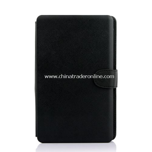 "Leather Case with Mini USB Interface Keyboard for 7"" MID Tablet PC Black"