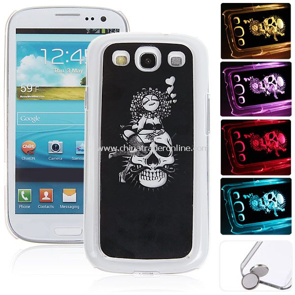 Skeleton Flasher LED Color Changed Protector Case for Samsung Galaxy S3 i9300
