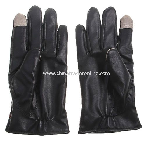 Women Luxurious Leather Electricity Melted Touch Gloves for All Capacitive Touch Devices