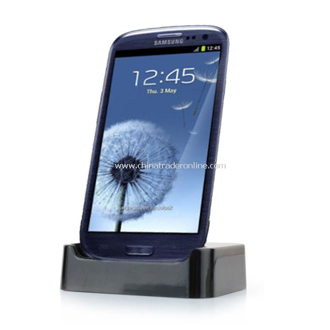 Samsung Galaxy SIII GT-I9300 Desktop Docking Station Charger Mount Cradle Black