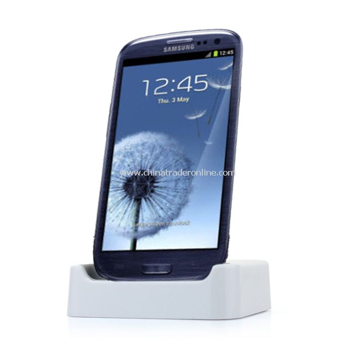 Samsung Galaxy SIII GT-i9300 Desktop Docking Station Charger Mount Cradle White