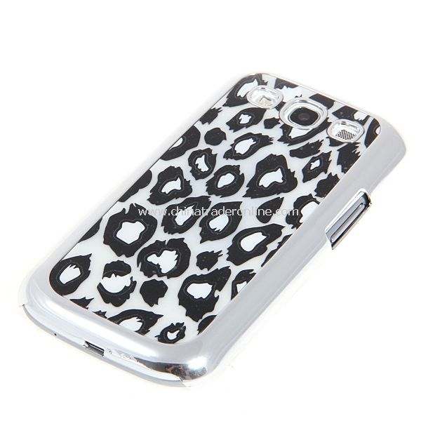 Leopard Pattern Elegant Electroplating Edge Plastic Hard Case for Samsung Galaxy S3 i9300