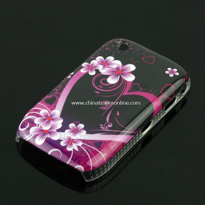 New Flower Design Case Cover Skin Protector for Blackberry 8520/8530