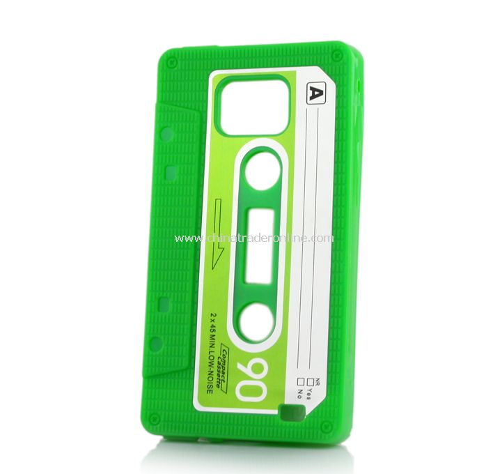 New TPU Cassette Tape Case Cover for Samsung Galaxy S2/i9100