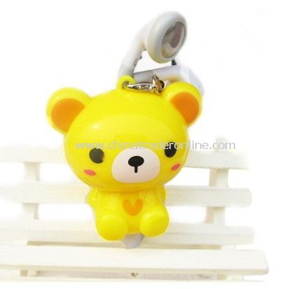 3.5mm Plugy Earphone Catoon Style Automatic Flexible Earphone Yellow Rilakkuma