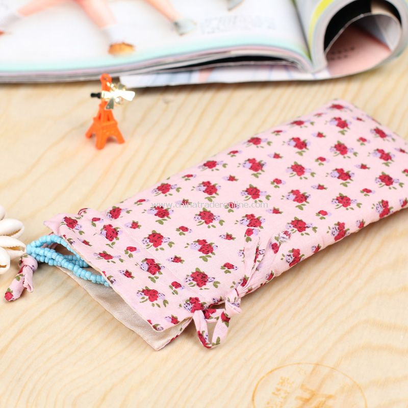 floral cotton cell phone pocket IPHONE4S phone package