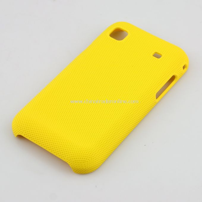 Plastic Hard Case Cover for Samsung i9000 Yellow