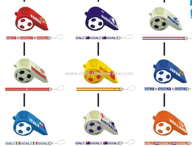 World cup assembly whistle mobile phone seat random color
