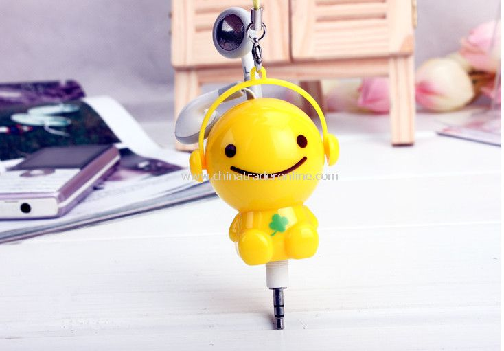 3.5mm Plugy Earphone Catoon Style Automatic Flexible Earphone Yellow Sunny Doll