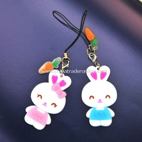 Couple Rabbit pendant / mobile phone pendant