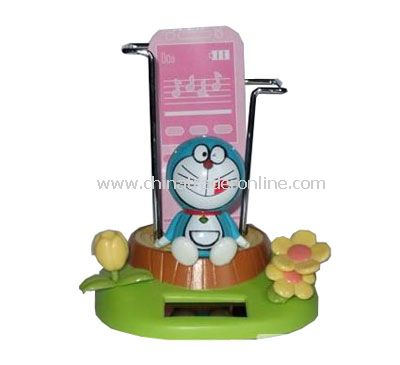 Ding Dong cats with a mobile phone holder solar doll