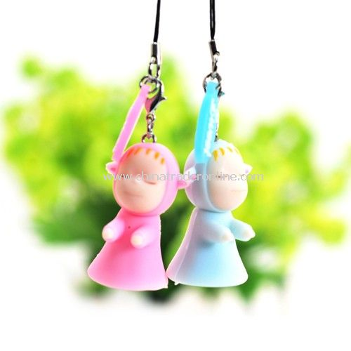 Doll couple pendant / phone hanging random color