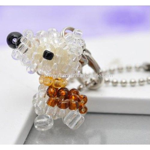 Hand-beaded pet dog pendant