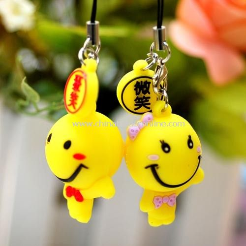 Laughs doll couple cell phone charms. random color