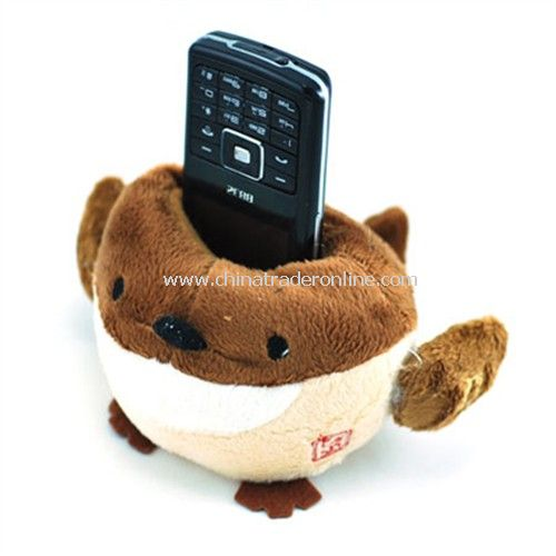 Puffer fish plush phone holder
