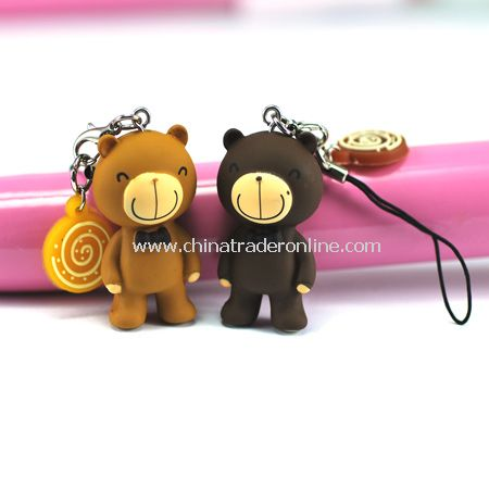 Teddy bear couples the mobile phones accessories