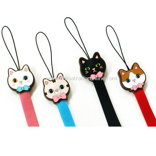 Candy cat series of cell phone lanyard random color from China