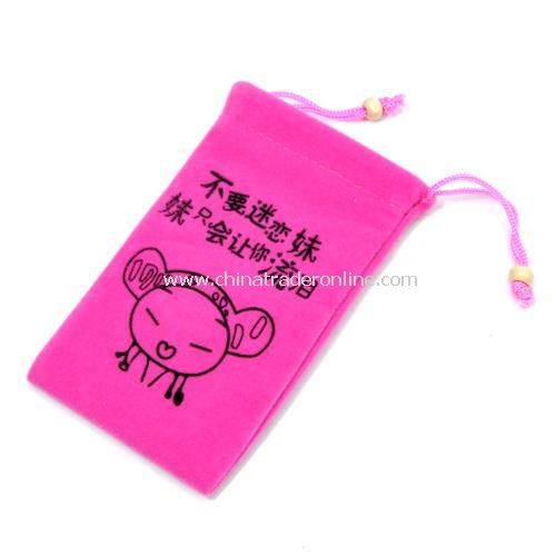 Fashion high-quality double-layer flannel / phone protection bag - Do not be obsessed sister