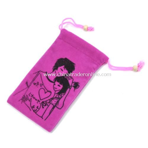 Fashion high-quality double-layer flannel / phone protection bags --- love