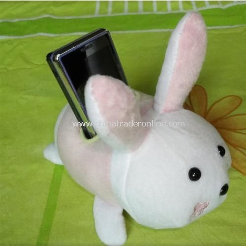 Super cute Lucky Rabbit plush phone holder / remote control holder from China