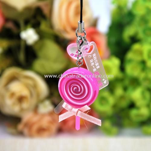 super popular sweetheart love lollipop phone call Flash / pendant random color