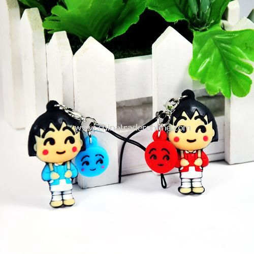 Three-dimensional small balls couple, mobile phone pendant (1pair)