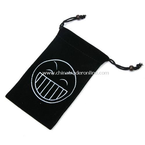 Trumpet fashion high-quality, double-layer velvet sets / phone protection bags ---- laugh (Black)