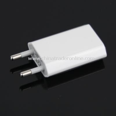 EU AC to USB Power Charger Adapter Plug for iPod iPhone