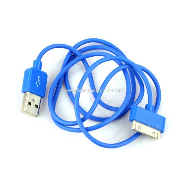 New USB Data Charger Cable Cord for Apple iPhone iPod iTouch Blue