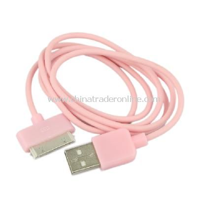 New USB Data Charger Cable Cord for Apple iPhone iPod iTouch Pink
