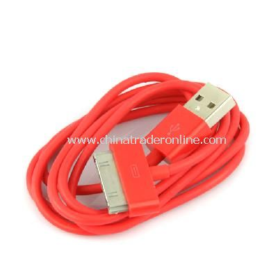 New USB Data Charger Cable Cord for Apple iPhone iPod iTouch Red