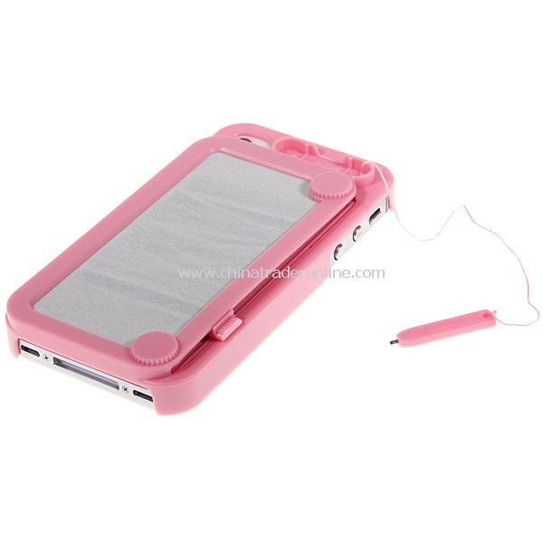 Pink Retro Painting Board Case Magic Drawing Cover for iPhone 4 4S from China
