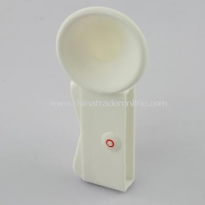 Silicone Horn Stand Amplifier Speaker for iPhone 4G WHT
