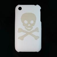 Skull Style White Hard Plastic Case Cover for Apple iPhone 3G