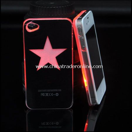 Star Style Flasher LED Color Changed Protector Case for iPhone 4/4S (Flash While Calling or Called)