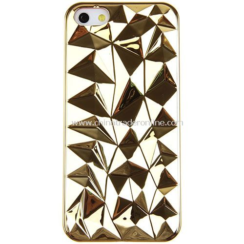 Unique 3D Triangle Diamond Plastic Cover Case for iPhone 5