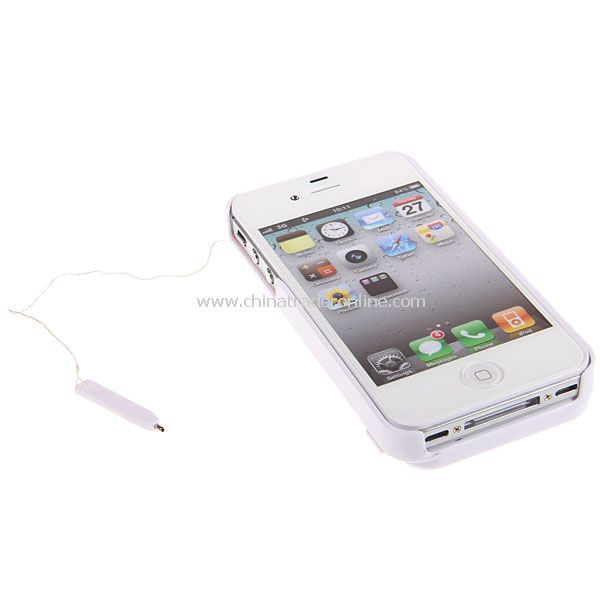White Retro Painting Board Case Magic Drawing Cover for iPhone 4 4S