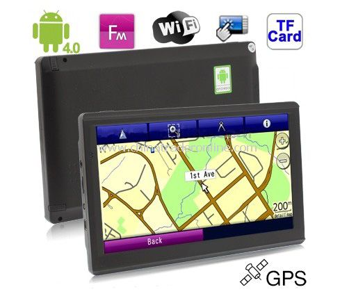 7.0 inch Touch Screen Android 4.0 Version GPS Navigation with 4GB Memory and Map,